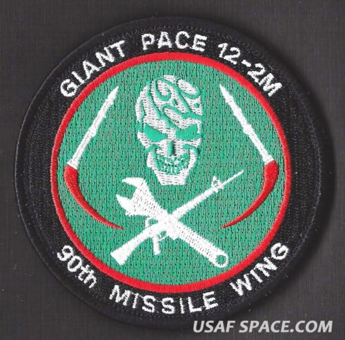 Peacekeeper Warren AFB ORIGINAL PATCH USAF 90th MISSILE WING GIANT PACE 12-2M