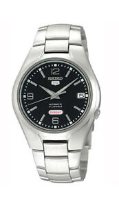 Seiko-Automatic-SNK623-SNK623K1-Men-Day-Date-Black-Dial-Stainless-Steel-Watch