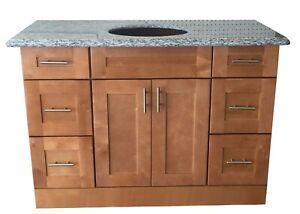 Maple Walnut solid wood Single Bathroom Vanity Base Cabinet 24 W x 21D x 32 H