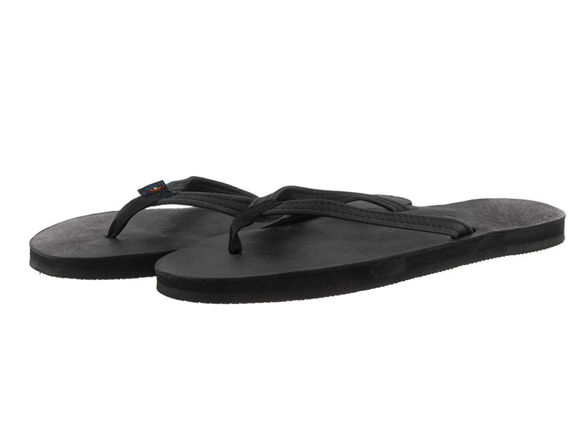 Para Mujeres Arco Iris 301 altsn Cuero Negro Negro Negro Correa de una sola capa estrecho 100% Original Nuevo  almacén al por mayor