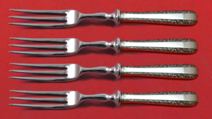 "Candlelight By Towle Sterling Silver Fruit Fork Set 4-piece Custom Made 6"" Hhws Furniture"