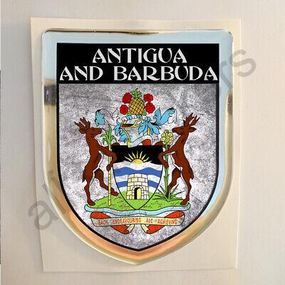 Cooperativa Pegatina Antigua Y Barbuda Escudo De Armas 3d Grunge Bandera Relieve Adhesivo