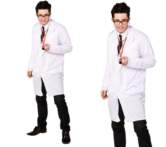 mens fancy dress costume One Size DOCTOR NURSE SCIENTIST LAB COAT HALLOWEEN