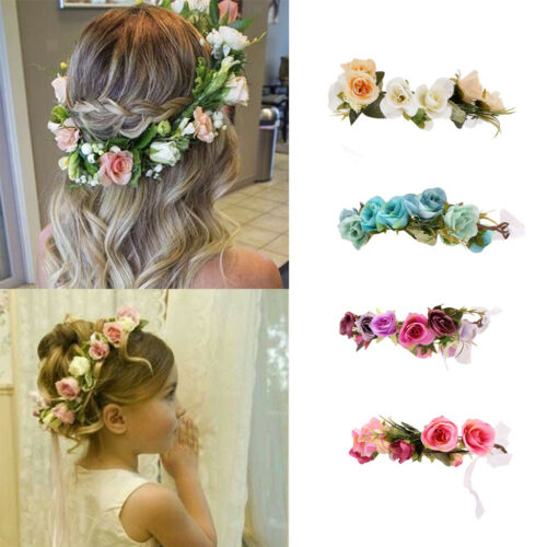 Prettyia Girls Kids Crown Hair Hoop Flower Hair Band Headband Boho Garland