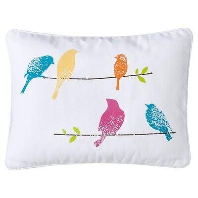 homthreads Birds Decorative Pillow - White