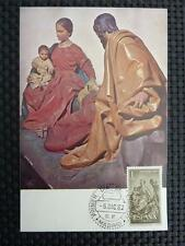 SPAIN MK 1962 CHRISTMAS NAVIDAD WEIHNACHTEN MAXIMUMKARTE MAXIMUM CARD MC c1665