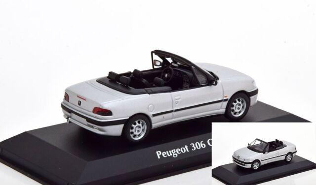 Peugeot 306 Cabriolet 1998 Silver Diecast 1:43 Minichamps Maxichamps