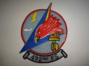 USAF 492nd FIGHTER Squadron Combat-Ready F-15E STRIKE EAGLE Patch