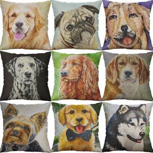 18-034-Dog-Print-Cotton-Linen-Cushion-Cover-Wasit-Home-Decor-Pillow-Case