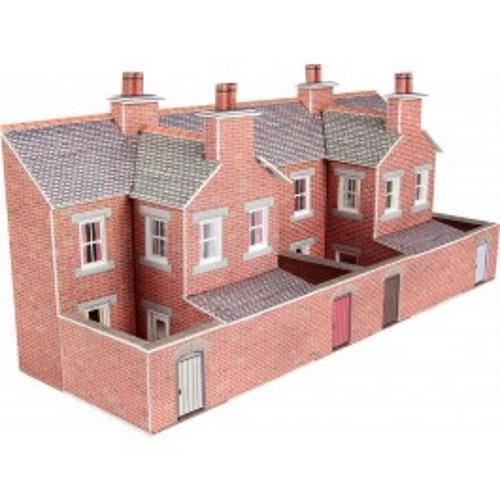 PN176 Low Relief Red Brick Terraced House Backs N Gauge Metcalfe