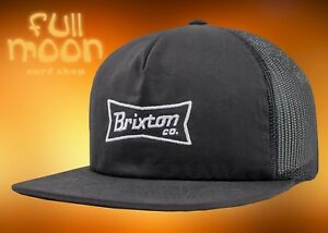 207c1ff8 Image is loading New-Brixton-Pearson-Black-Mens-Snapback-Trucker-Cap-