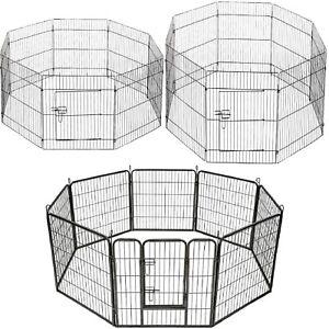Clôture Modulair Pour Les Chiens Rongeurs Lapins Métal 8 Panneaux Divers Modèles