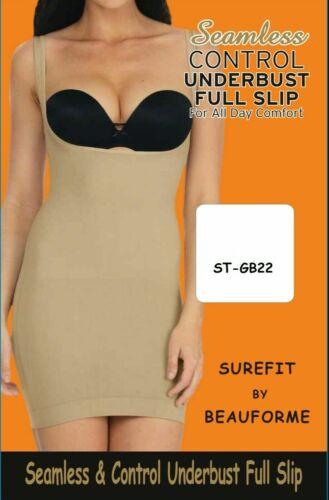 UK Femmes Underbust Seamless Tummy Control bodyshaper Full Slip S-XXXL