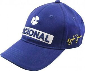 F1-Ayrton-Senna-Official-Banco-Nacional-Cap-One-Size-From-Japan-with-Tracking