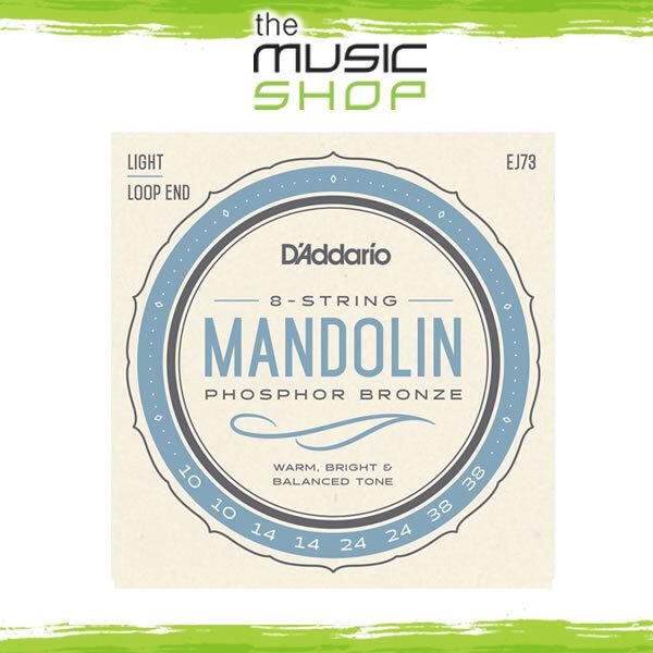New Set of D'Addario 8 String Phosphor Bronze Mandolin Strings EJ73 10-38 Light