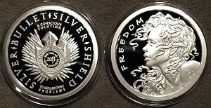 2013 Freedom Girl Proof 1oz Silver 999 Coin Round Coa