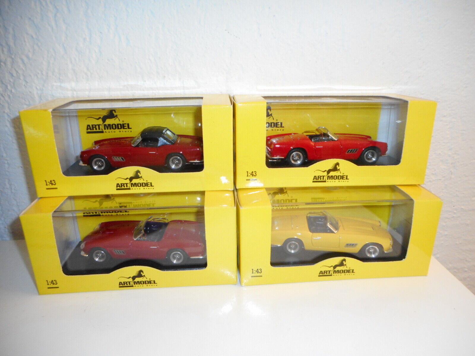 Lot of 4 ferrari 250 california 1 43 art model all different bong Beste box
