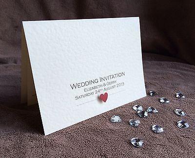 Capace Personalizzato Wedding Invitation Campione-mostra Il Titolo Originale