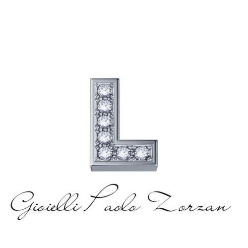 DCHF3319L.001 Donna oro Elements lettera  L  in oro bianco e brillanti  Ref