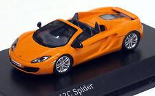 Minichamps 1/87 HO 2012 McLaren 12C Spider Metallic Yellow  877133031  US SELLER