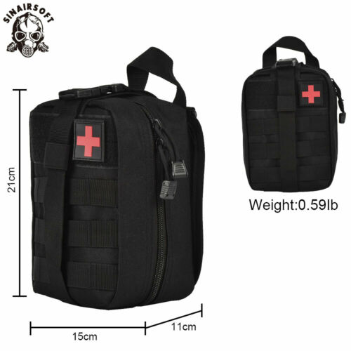 Tactical First Aid Kit Survival Kit Molle Rip-Away EMT Pouch Bag IFAK Medical BK