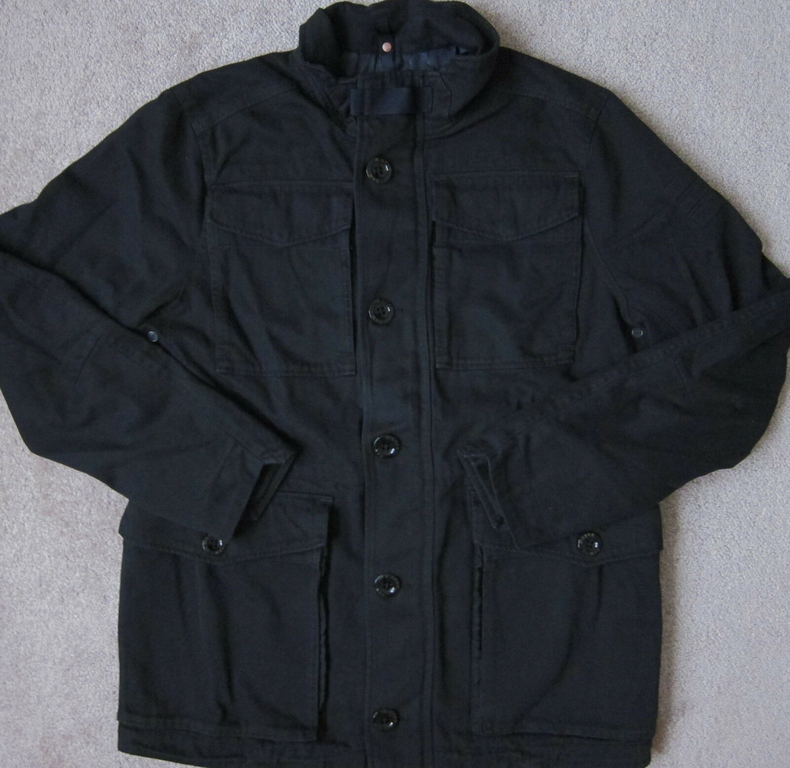 G-STAR RAW (Fekete) MFD Pamut Field Jacket w / Bélés férfiak - NWT