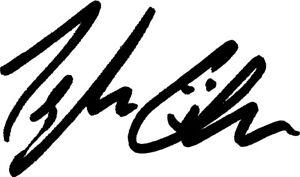 Kurt Vonnegut Autograph VINYL DECAL laptop book bumper sticker car