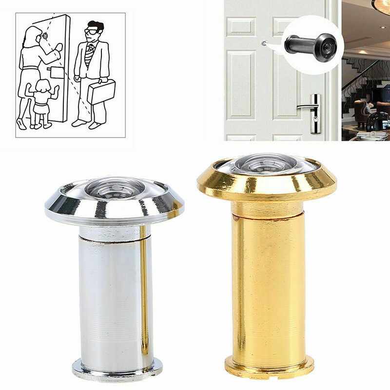 1//3PCS 200Degree Security Door Viewer Wide Angle Eye Peep Hole With Cover