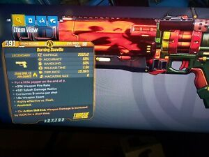 Details About Scoville X2 Fire Anointed 100 Dmg Borderlands 3 Xbox Handsome Jackpot Bl3