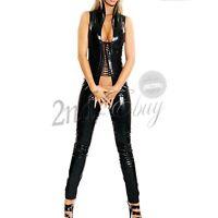 WETLOOK CATSUIT Ganzanzug Overall Strings Lack Leder Clubwear DOMINACATSUIT GOGO