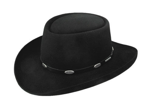 Stetson Cowboy Hat 5X Royal Flush Felt Hat Free Brush+No Tax Sale Black