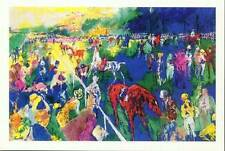 """Lot of 10 Leroy Neiman """"Paddock at Chantilly"""" Horse Race  rare vintage posters"""