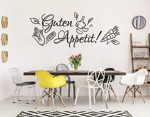 wandtattoo k che wandtatoo kochen essen esszimmer gem se guten appetit pkm87 ebay. Black Bedroom Furniture Sets. Home Design Ideas