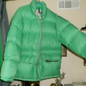 664e856f15 NORTH FACE Vtg BROWN LABEL Down Himalayn Puffer Zip Snap Green ...
