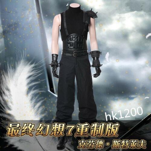 Final Fantasy VII Remake Cloud Strife Halloween Cosplay Costume Full Set Custom