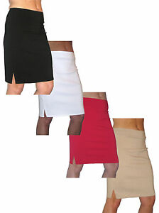 (2356) Smart Stretch Pencil Skirt Casual 6-18