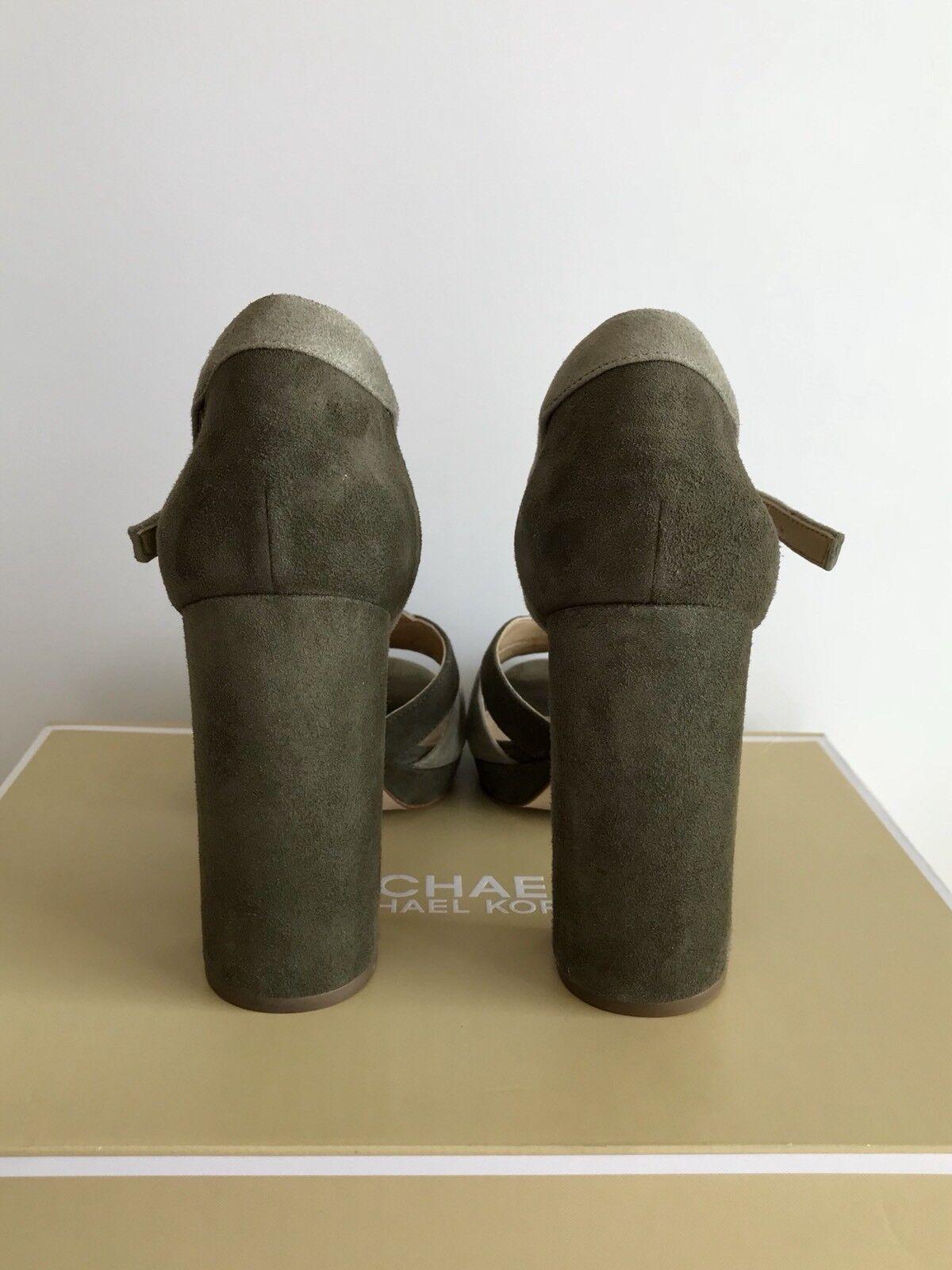 ffae679caf9f Michael Kors Annaliese Platform High Heel Suede Olive Sage Sandal 9 US for  sale online