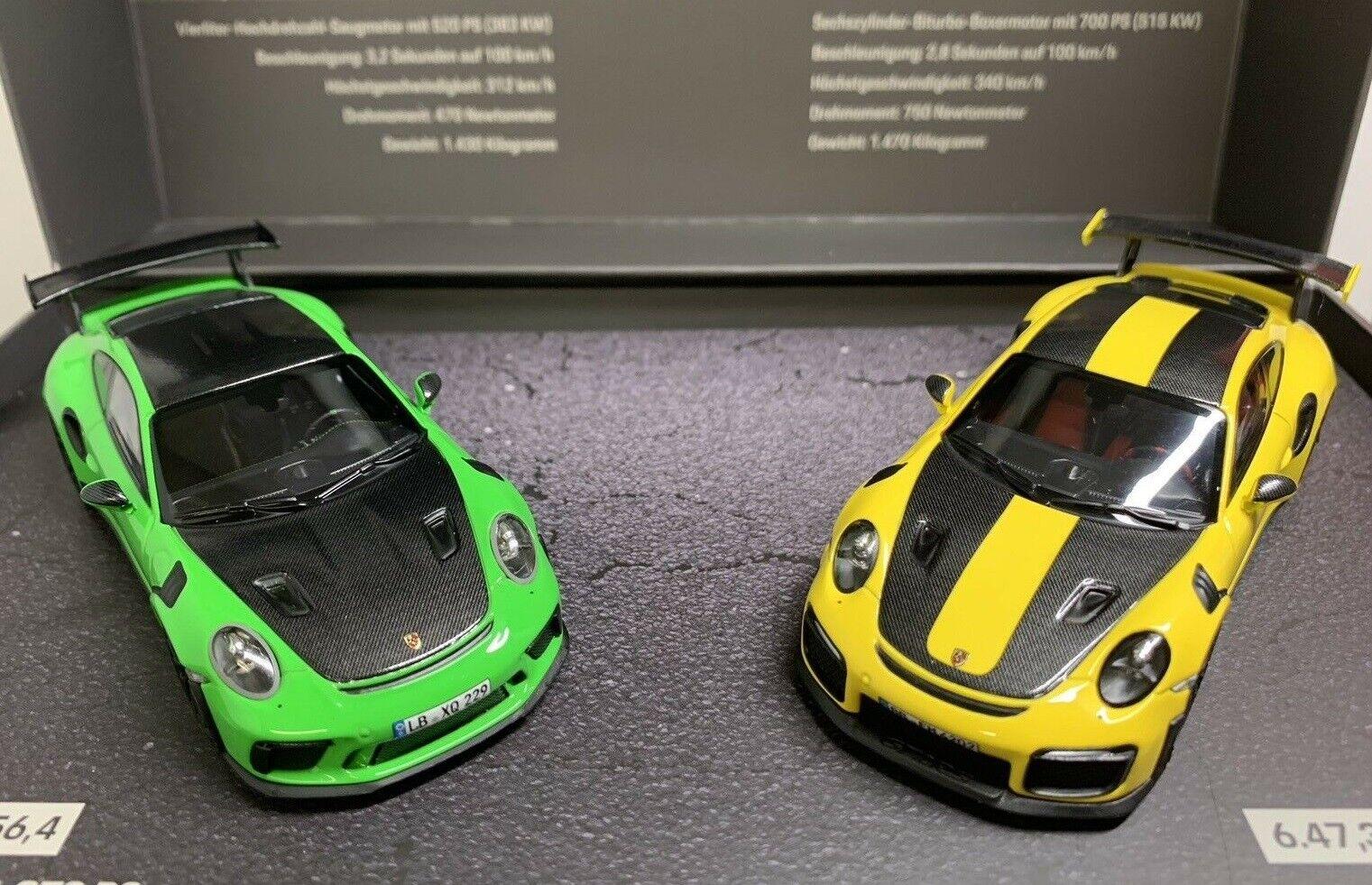 Porsche 911 GT3 RS Lagarto verde GT2 RS Racing giallo conjunto viene Minichamps