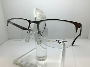 0cb73ca2c26 Image is loading RAY-BAN-RX-6362-2502-55MM-SHINY-GUNMETAL