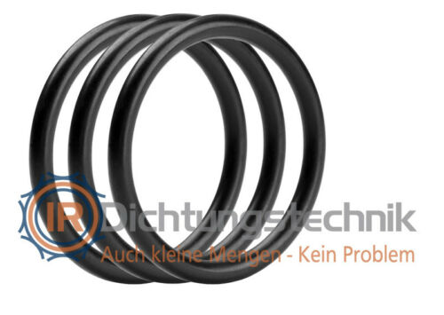 O-Ring Nullring Rundring 28,0 x 2,5 mm FKM 75 Shore A schwarz 3 St.