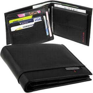 SAMSONITE Herren Geldbörse 18 Fächer Geldbeutel Leder Portemonnaie RFID Geldsack