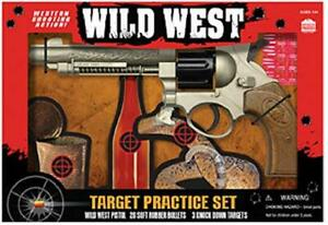 Wild-West-Toy-Pellet-Gun-Pistol-3-Target-Practice-Set-with-20-Rubber-pellets