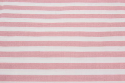 "Dusty Rose & Off-White Striped Cotton Fabric 3 1/2 Yards x 45"" Wide Quilting"