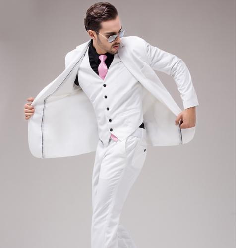 3PCS Mens Blazer Slim Coat Wedding Dress Vest Pants Suit One Buttons Party New s