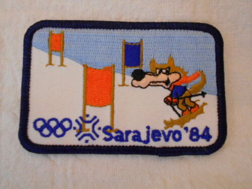SARAJEVO 84 Olympic Games  USED EMBROIDERED  SEW IRON ON ON NAME PATCH TAG