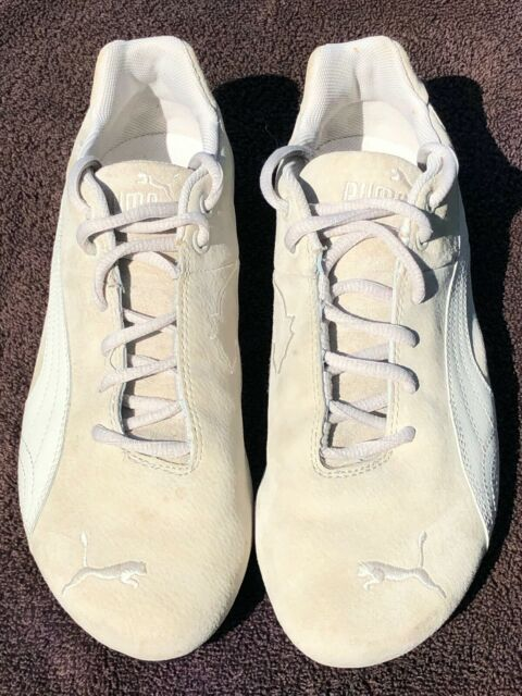 RARE Puma Future Cat Beige Suede/White Leather Driving Shoes Women's US Sz 10