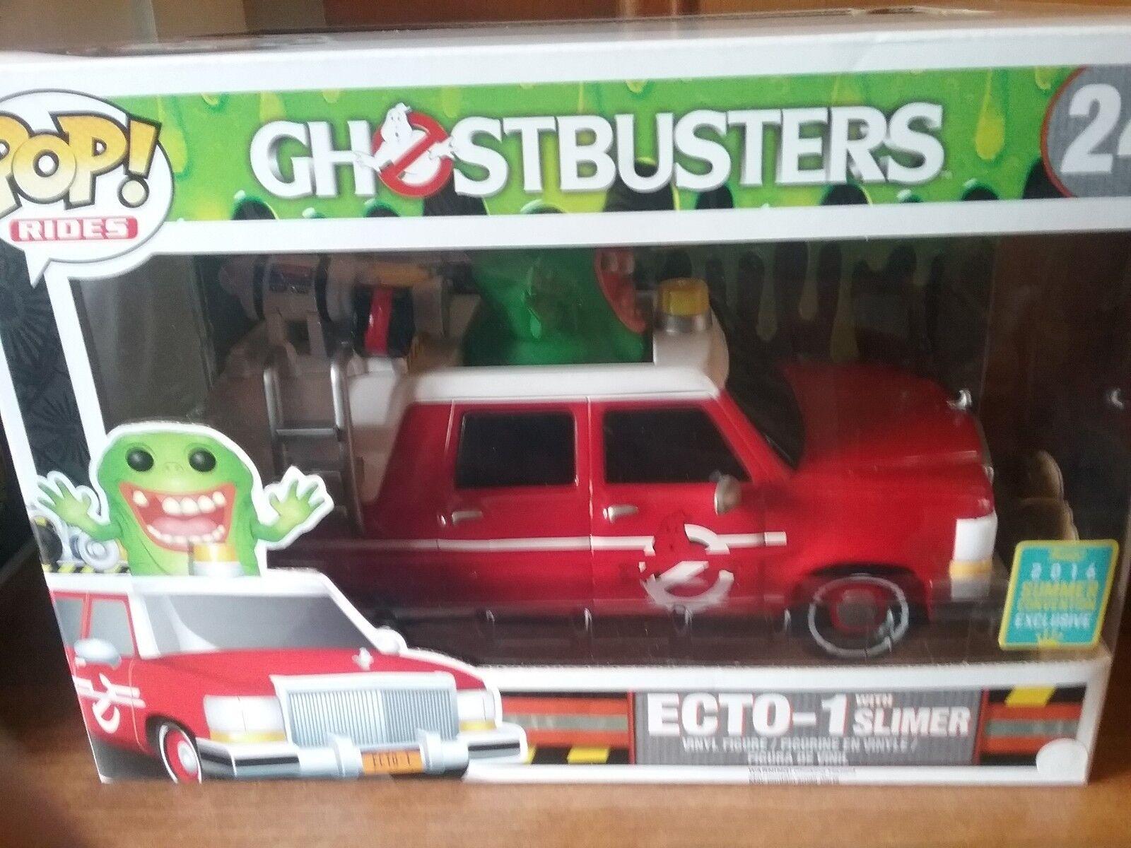 Funko Pop  Ecto - 1 con Delgado Ride De Ghostbusters  24 Exclusivo
