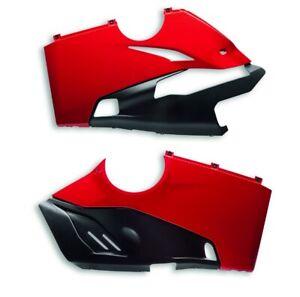 DUCATI-untere-Racing-Verkleidung-Verkleidungshaelften-Fairing-rot-PANIGALE-V4-R