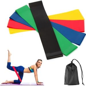 5-Resistance-Bands-Loop-Exercise-Yoga-Training-Fitness-Home-Gym-Workout-Crossfit