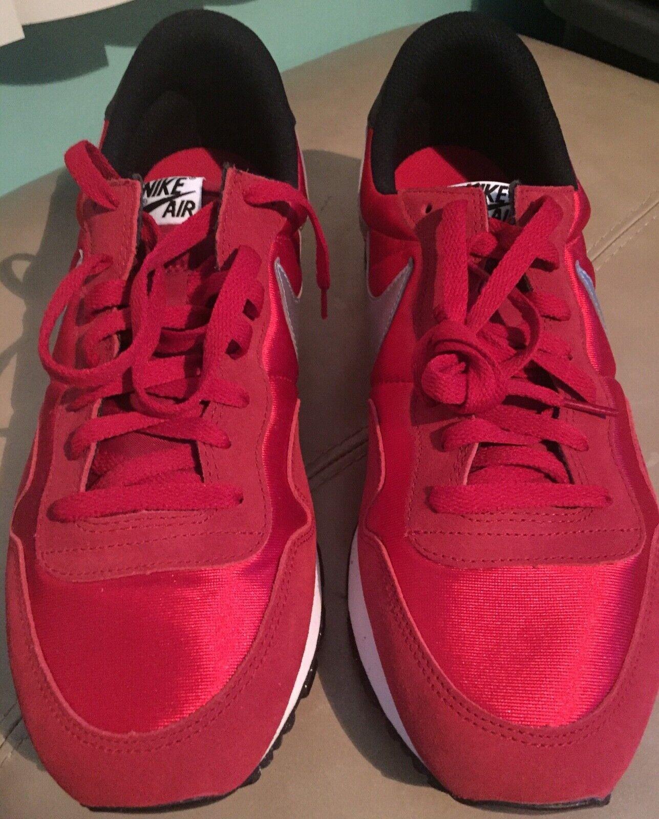 Nike Men's Air Silver 14 Size Black Red University 83
